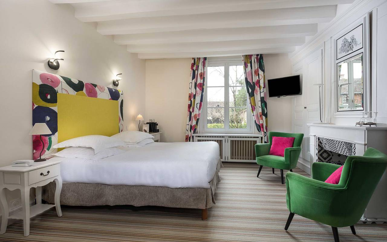 Colorful double room hotel chenonceau