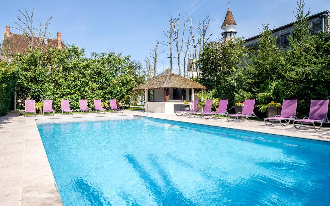 Outdoor pool hotel de charme chateau de la loire