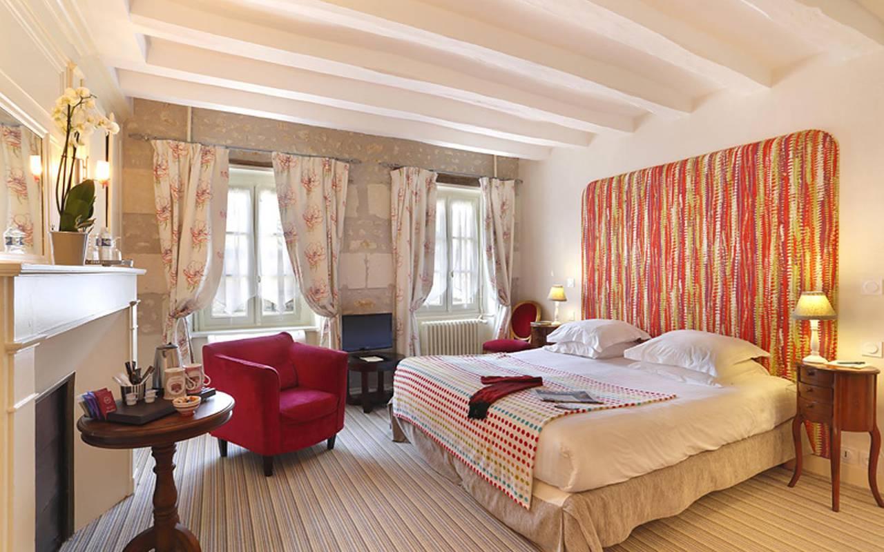 Double chambre spacieuse hôtel chenonceaux