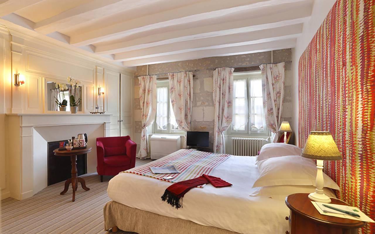 Double chambre confortable hôtel chenonceaux