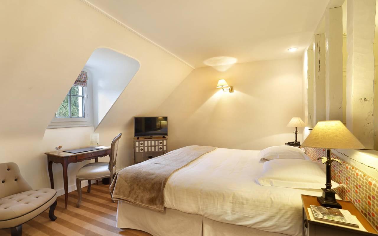 Chambre de charme illuminée hôtel chenonceaux