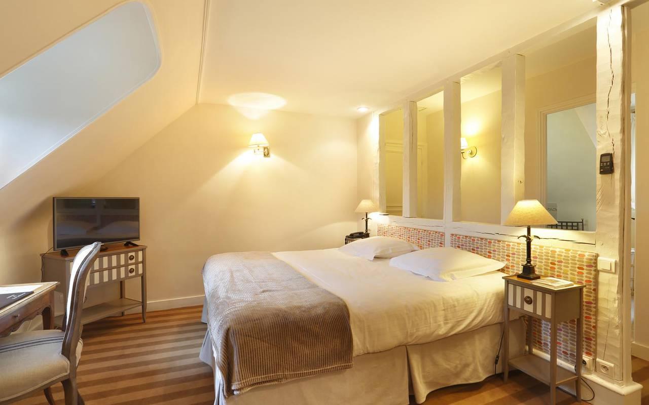 Chambre de chambre rustique hôtel splendide chenonceau
