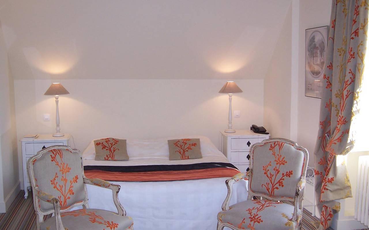 Double chambre authentique hôtel chenonceaux