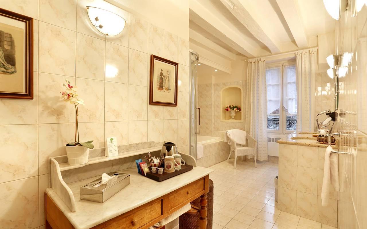 Grande salle de bain spacieuse hôtel tours