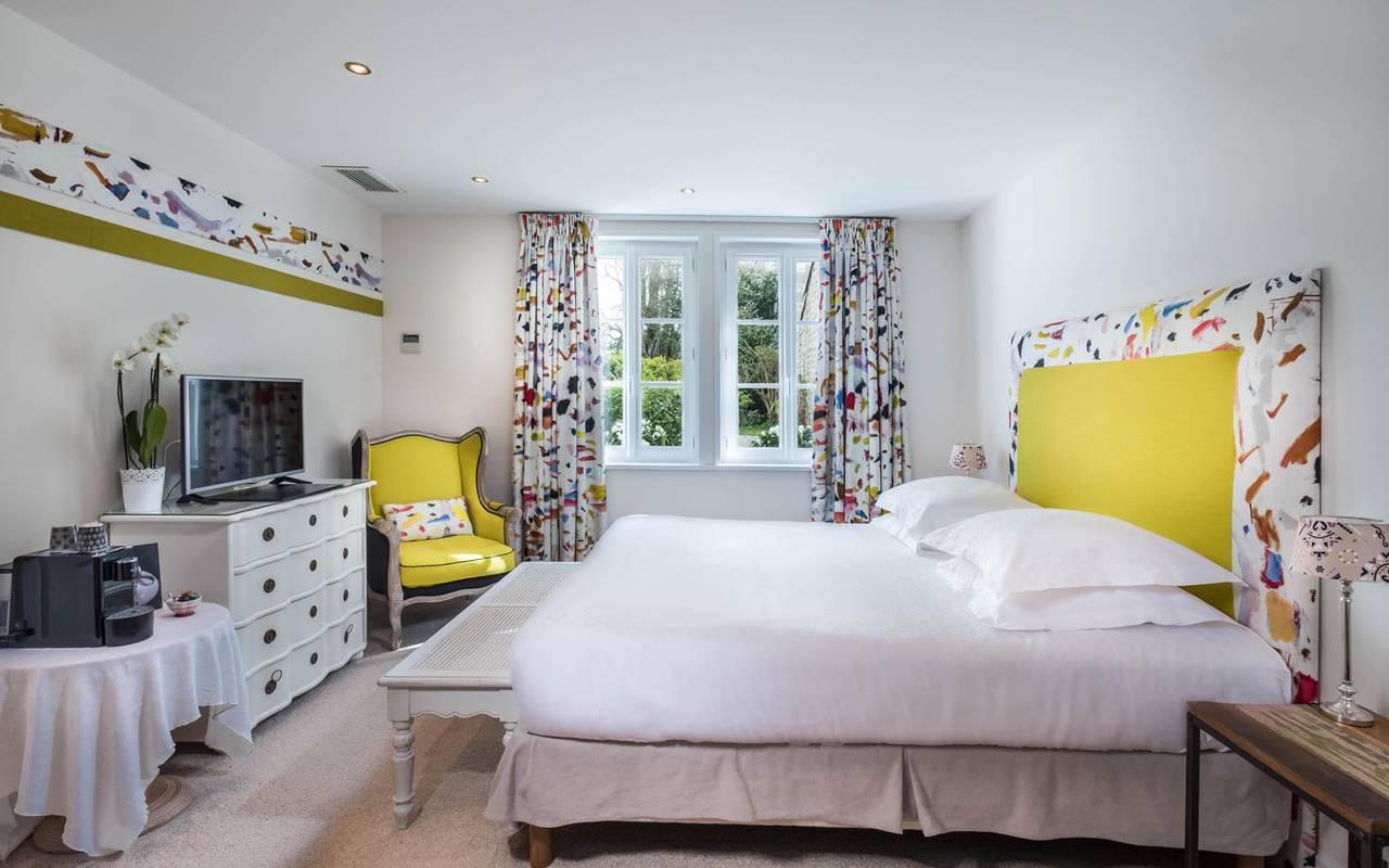 Chambre double spacieuse hôtel amboise