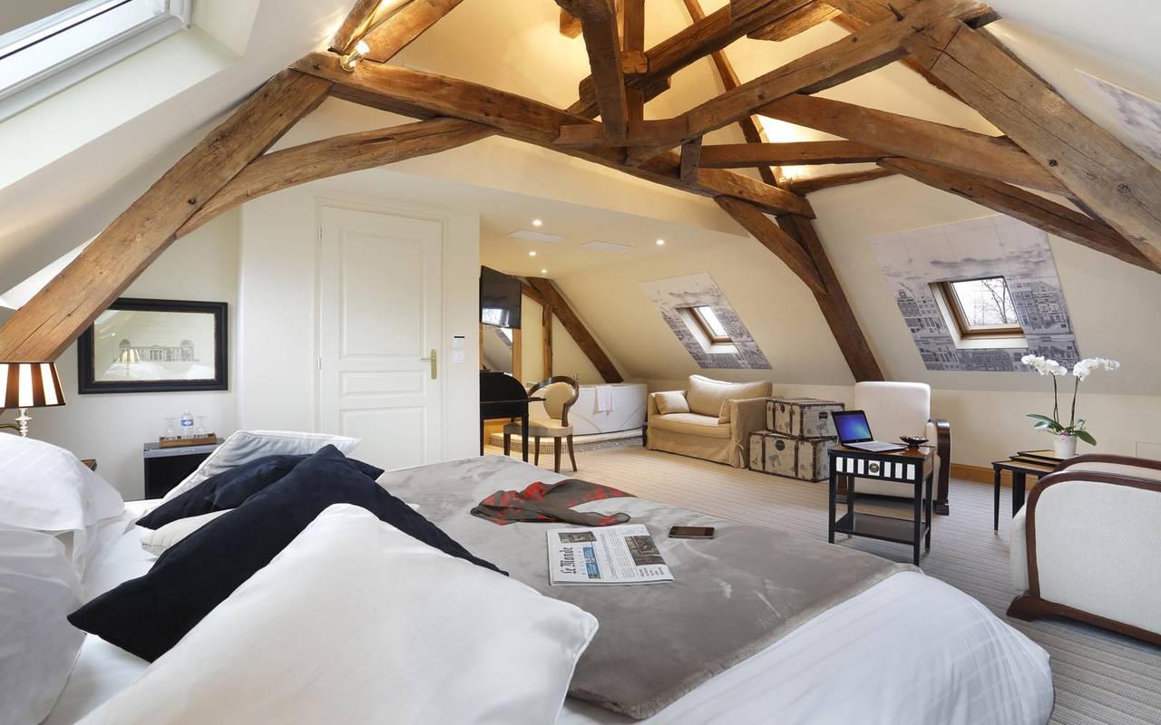 Chambre double luxueuse hôtel de charme tours