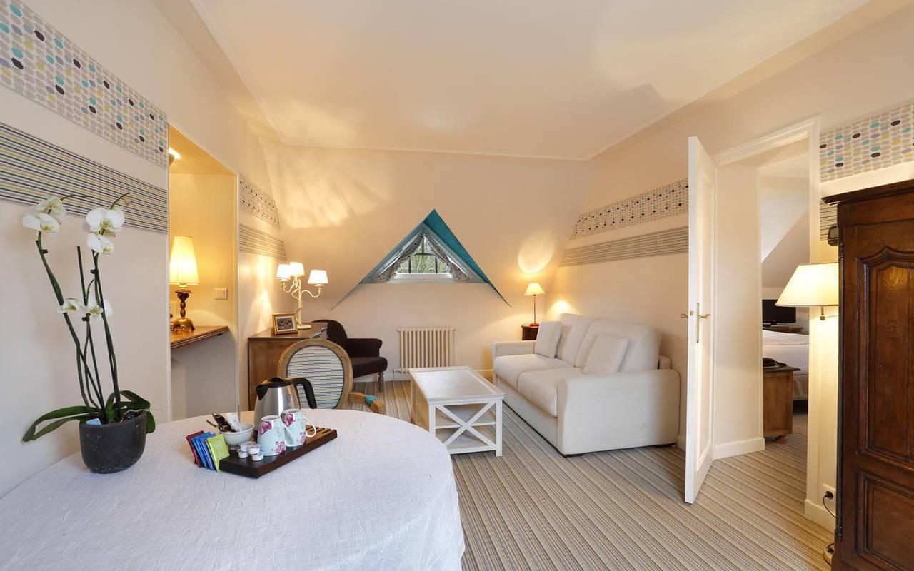 Salon luxueux hôtel loire