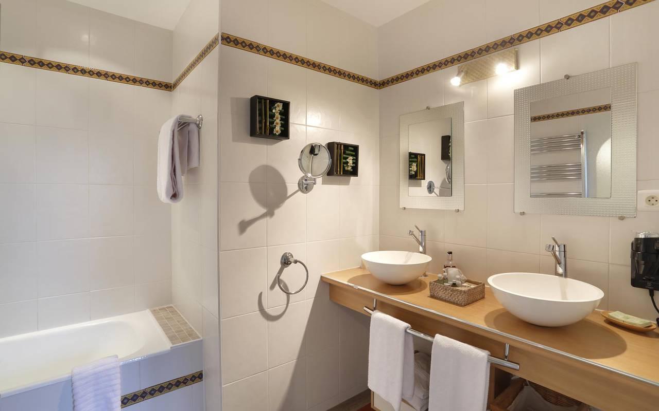 Double vasque hôtel loire