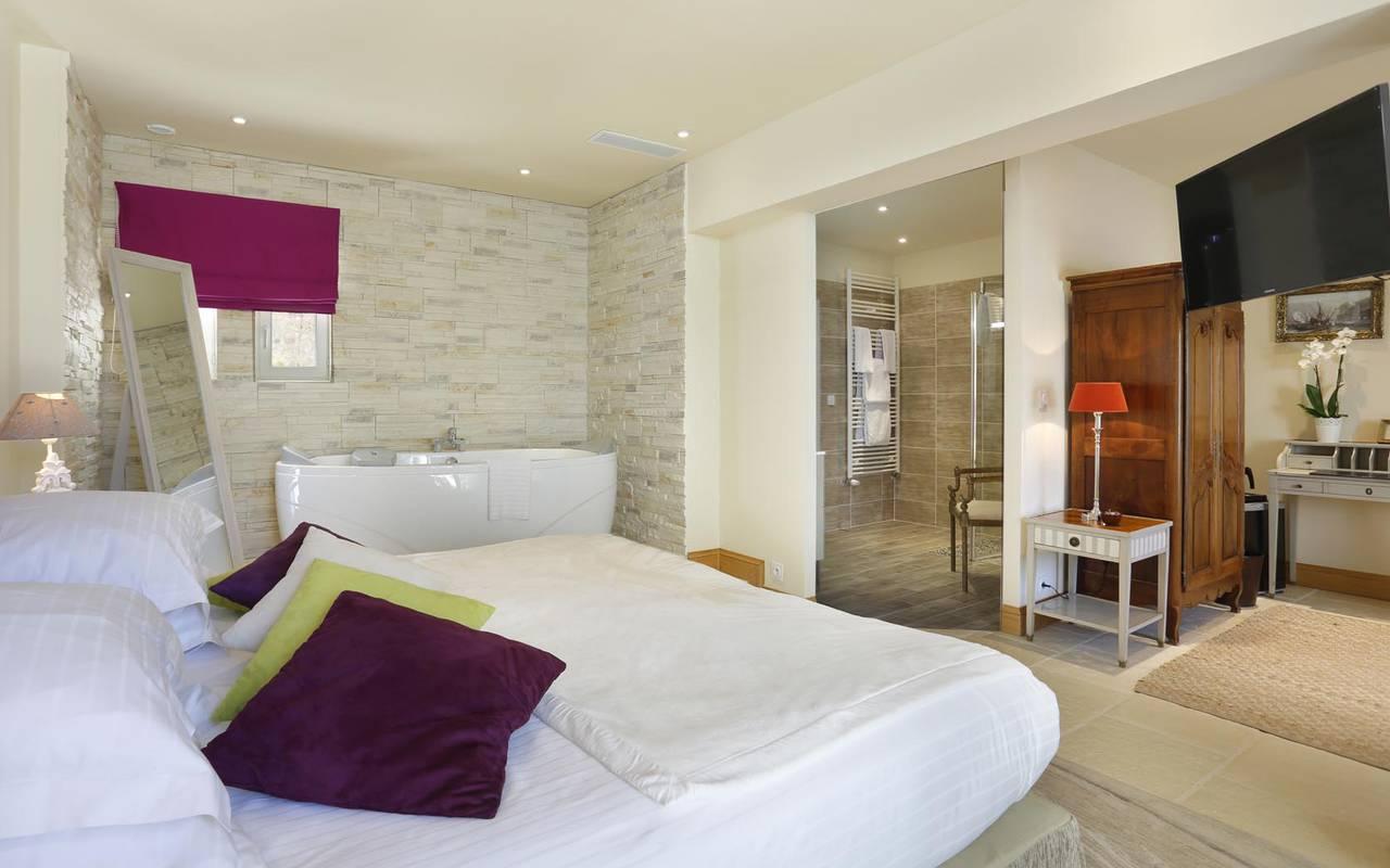 Chambre double moderne hôtel loire