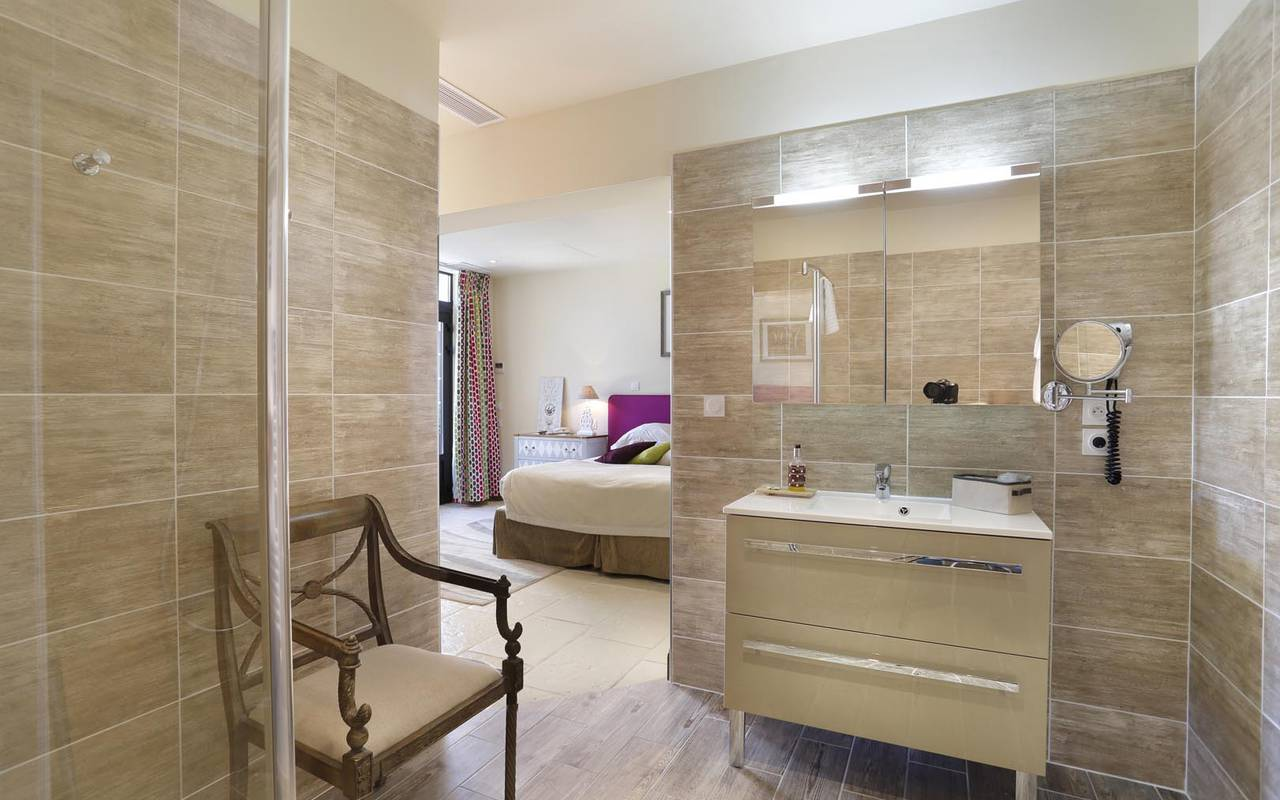 Salle de bain prestigieuse hôtel bord de loire