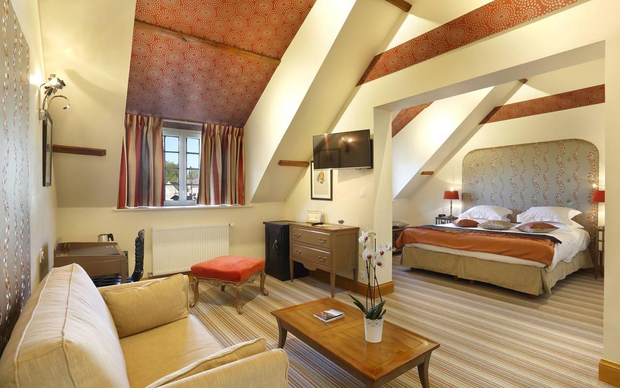 Chambre double hôtel bord de loire