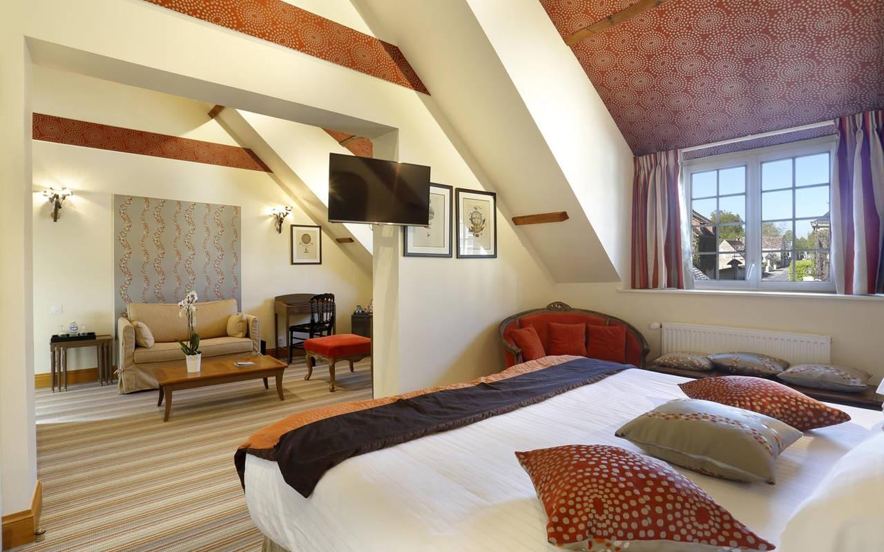 Chambre double chic hôtel bord de loire