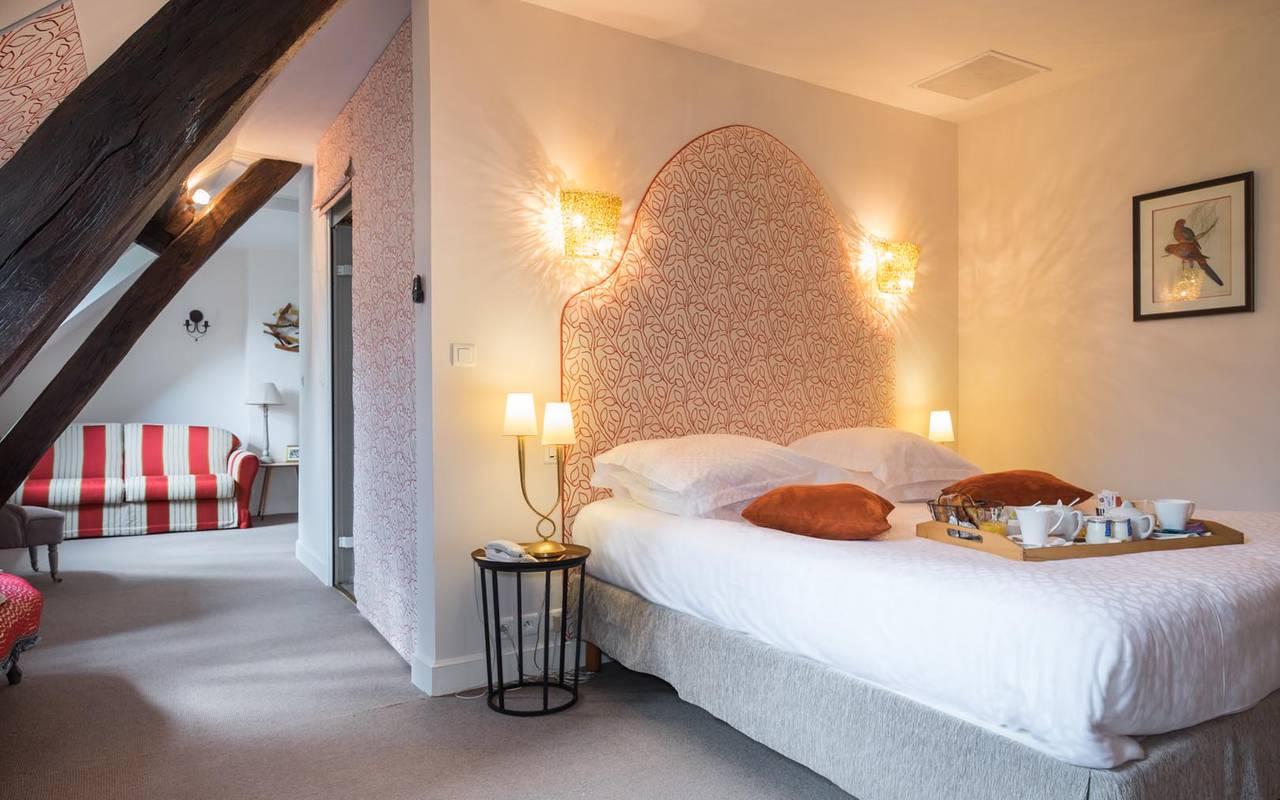 Chambre double spacieuse hôtel touraine
