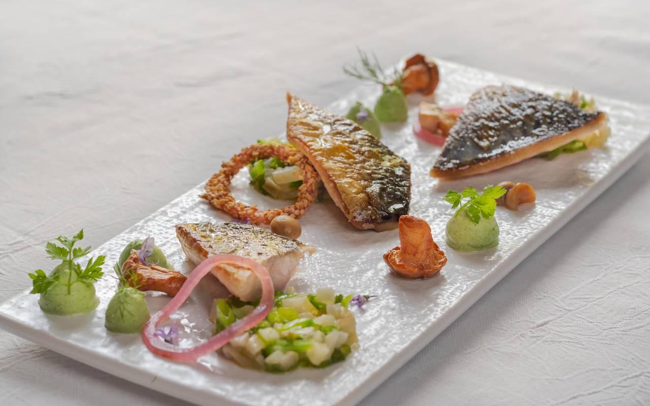 Plat principal gastronomie restaurant loire et indre
