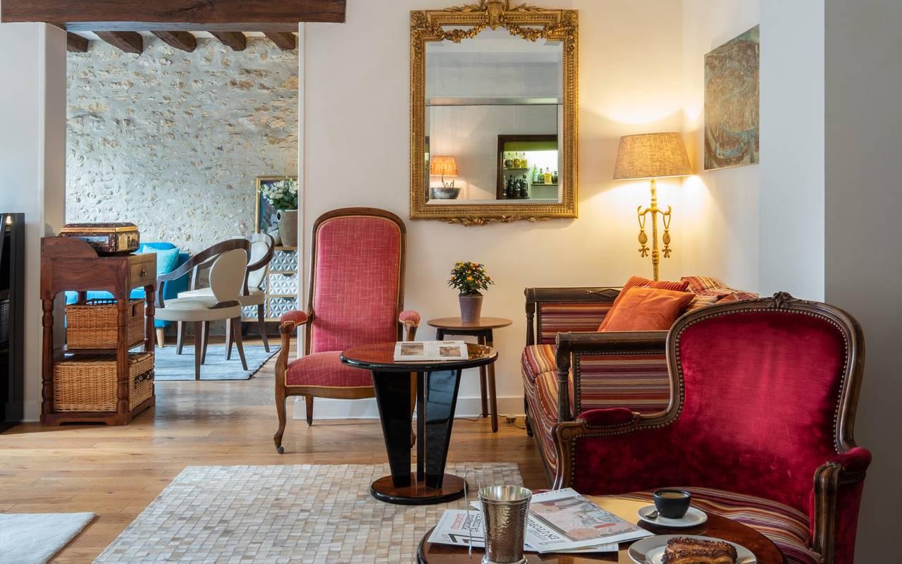 Salon sublime hôtel de luxe loire