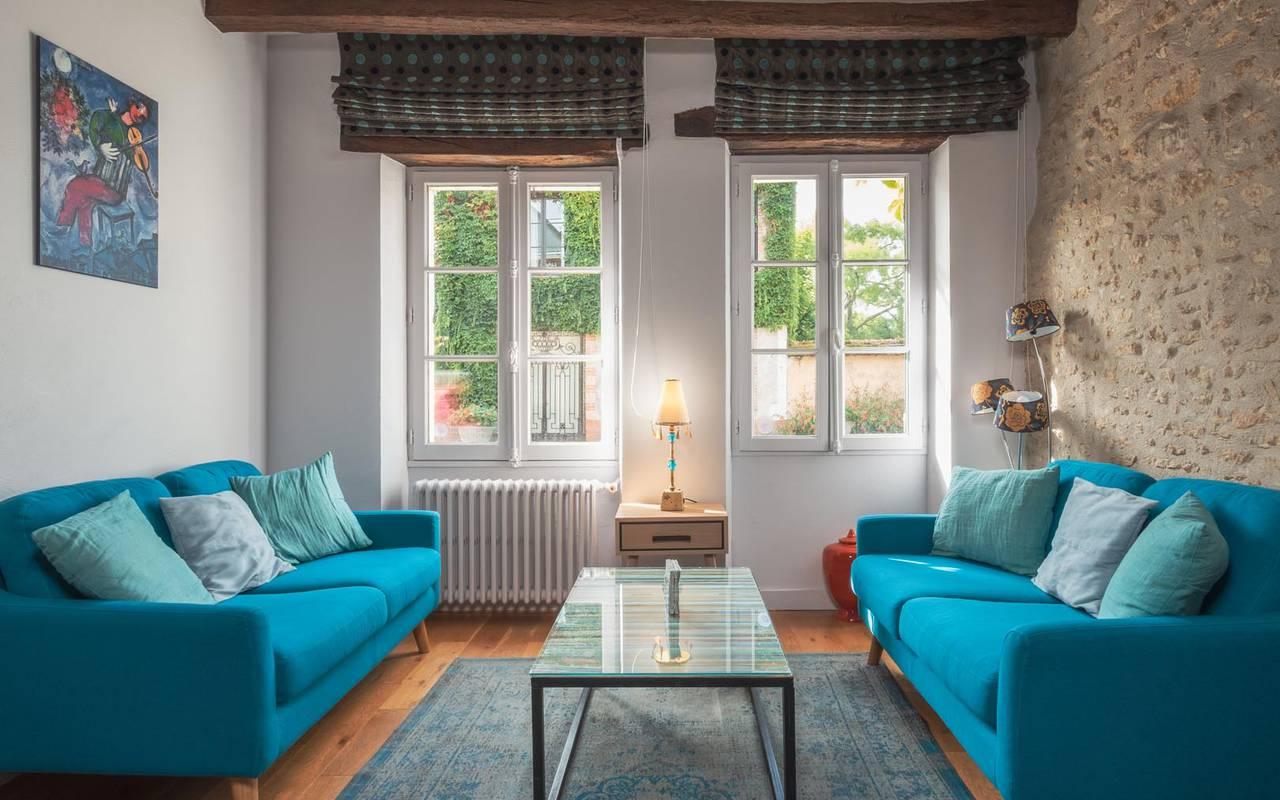 Confortable salle de repos restaurant loire et indre