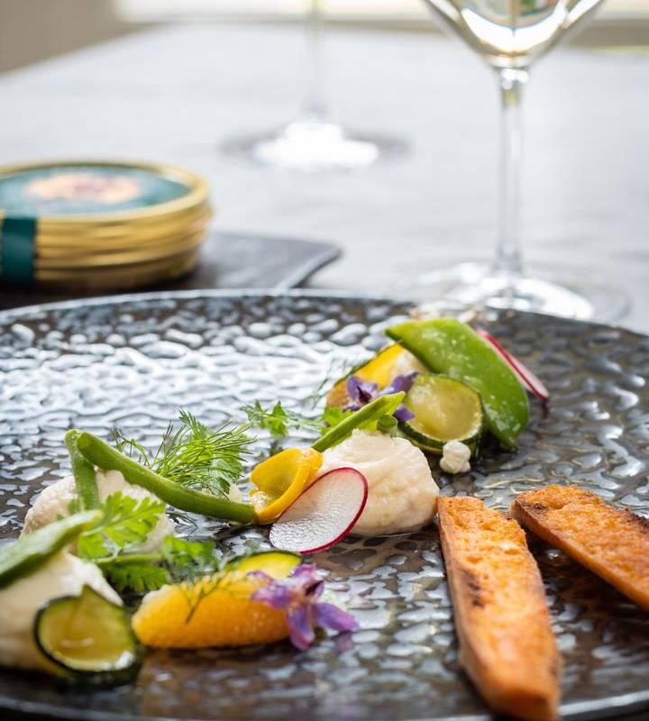 Délicieux plat frais restaurant loire et indre