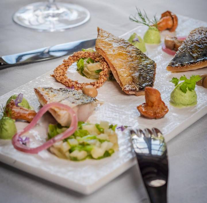 Assiette gastronomie restaurant loire et indre