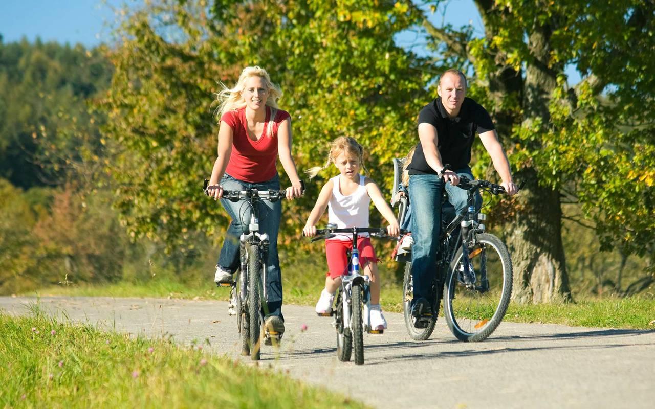 Vélo en famille hôtel loire