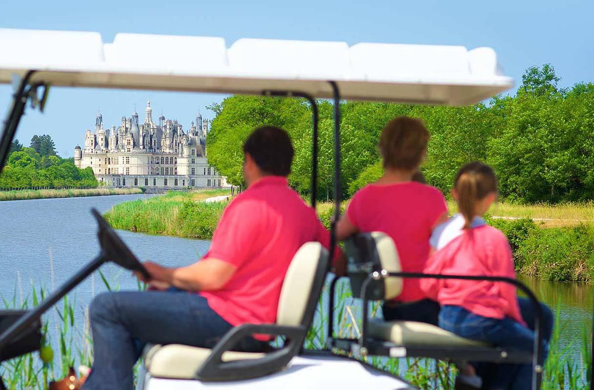 Voiture de golf séjour château de la loire